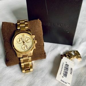 Michael Kors Goldtone Chronograph Watch